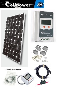 A- CP-200 solar panel kit complete with MPPT20A controller